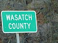 Wasatch County, Utah sign on SR-32, Apr 16.jpg
