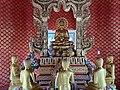 Wat Florida Dhammaram stupa at sarnath statues.jpg