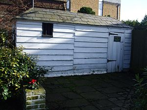 Petersham, London - Watchman's hut and lock-up, erected in 1787 and now Grade II listed