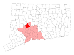 Location in New Haven Coonty, Connecticut