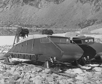 Alfred Wegener - Vehicles used by the 1930 expedition (stored).