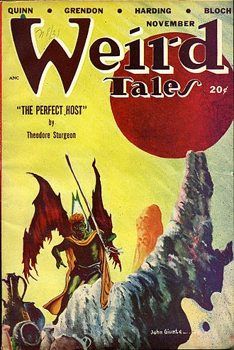 "Theodore Sturgeon - Sturgeon's ""The Perfect Host"" was the cover story in the November 1948 Weird Tales"
