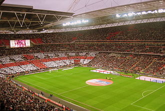 Sport in the United Kingdom - Wembley Stadium, London, home of the England football team and FA Cup finals.