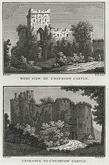 West View of Chepstow Castle. (and) Entrance to Chepstow Castle