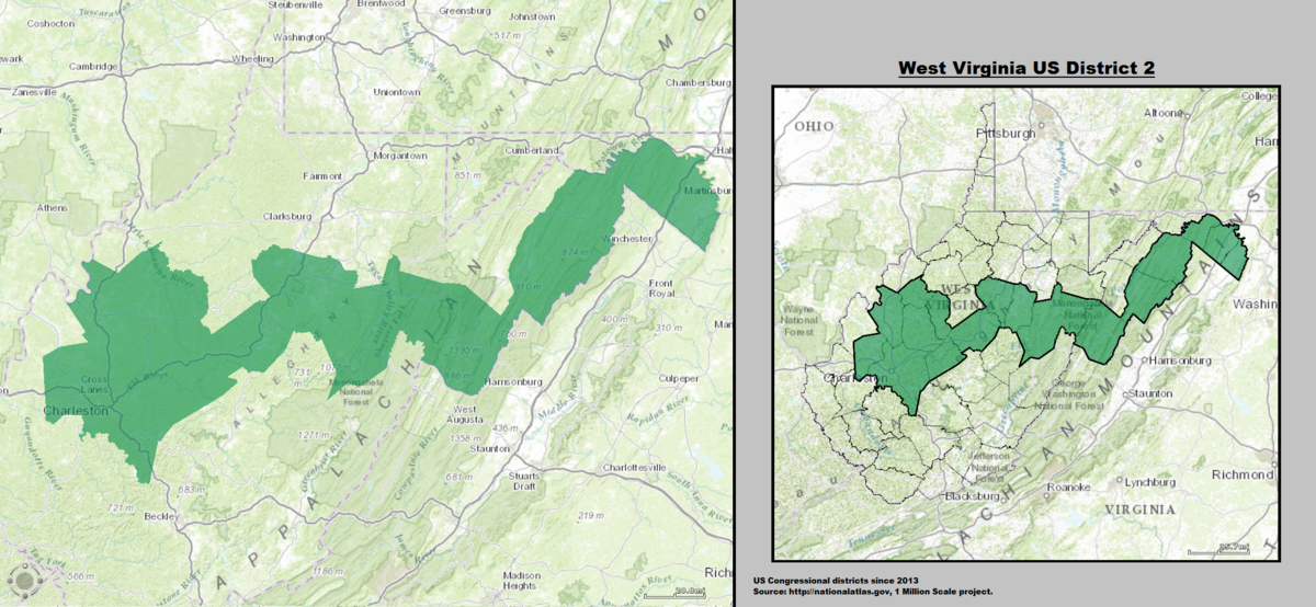 West Virginia's 2nd congressional district - Wikipedia