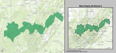 West Virginia's 2nd congressional district - since January 3, 2013.