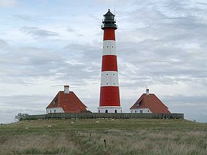Eiderstedt - Lighthouse in Westerhever