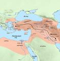 Western part of the Achaemenid Empire (hy-հայերեն).png