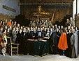Unterzeichnung des Vertrags in Münster auf einem Gemälde von Gerard ter Borch