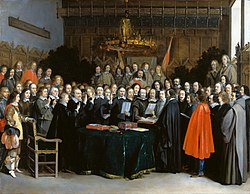 Gerard ter Borch: The Ratification of the Treaty of Münster