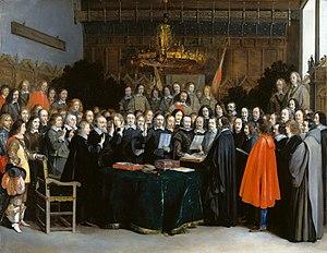 "MP ""Gloria Bellum"" - Página 3 300px-Westfaelischer_Friede_in_Muenster_(Gerard_Terborch_1648)"