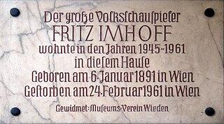 Fritz Imhoff Austrian actor
