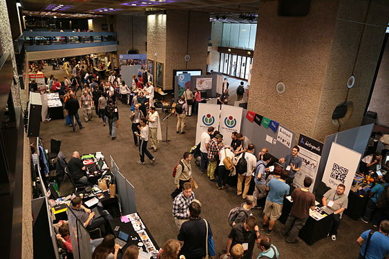 Wikimania 2014 Community Village stalls (2).JPG