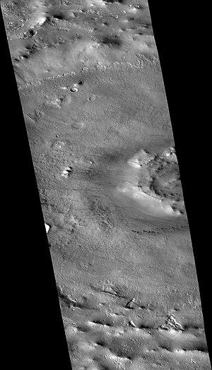 Milankovič (Martian crater) - Image: Wikimilankovicdunes