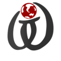 Wikt calligraphy logo nb globe red.png