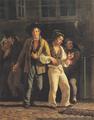 Wilhelm Marstrand - Berusede forlader en kælderbeværtning - 1834.png