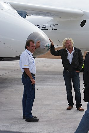 Will Whitehorn - Will Whitehorn and Richard Branson and the nose of SpaceShipTwo, 2010