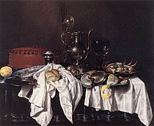Willem Claesz. Heda - Still-Life with Pie, Silver Ewer and Crab - WGA11248.jpg
