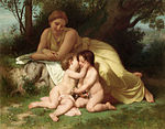 William-Adolphe Bouguereau (1825-1905) - Young Woman Contemplating Two Embracing Children (1861).jpg