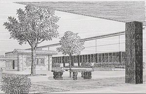 William M. Raines High School - William M. Raines Original Courtyard