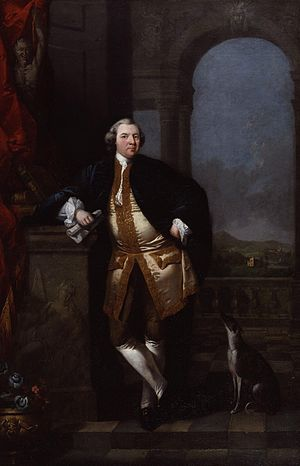 William Shenstone - Edward Alcock, William Shenstone (1760), oil on canvas