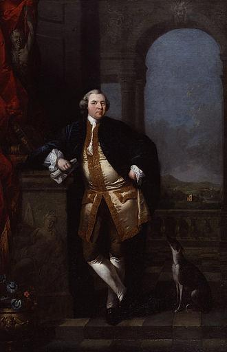 William Shenstone - Edward Alcock, William Shenstone (1760), oil on canvas