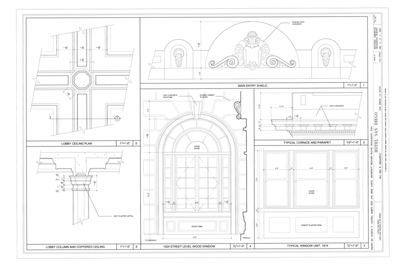 Perfect File:Window Details, Lobby Ceiling Plan, Lobby Column and Coffered  YU87