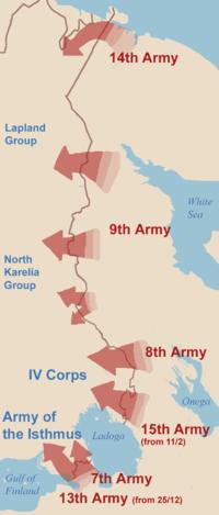 Los frentes soviéticos de la guerra de invierno