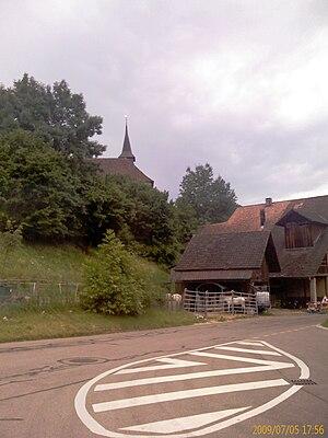 Wintersingen - Church and houses in Wintersingen