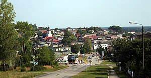 Woźniki - Panorama of the town