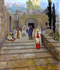 Women Leaving the Church at Ani