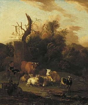 Michiel Carree - Michiel Carree. Wooded Landscape with Cattle. 1685. Rotterdam, Museum Boijmans Van Beuningen.