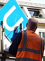 Worker with U-Bahn Sign - Köln (Cologne) - Germany - 03.jpg
