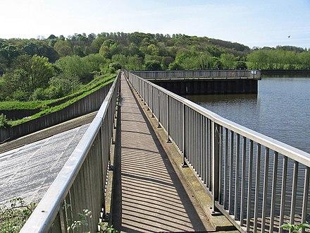 Worsbrough Footbridge Over Reservoir Spillway