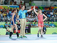 Wrestling at the 2016 Summer Olympics, Synyshyn vs Argüello 16.jpg