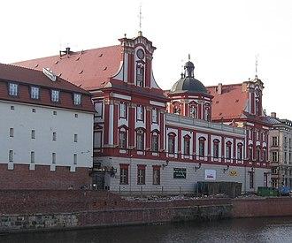 Ossolineum - Image: Wroclaw Ossolineum od ul Grodzkiej
