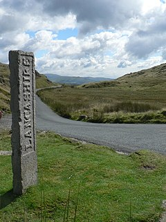 Three Shire Stone (Lake District) Boundary stone in Cumbria, England that marks the location where Cumberland, Westmoreland and Lancashire meet
