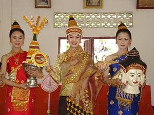 Xout lao - Laotian women wearing xout lao.