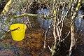 Yellow bucket, River Eske - geograph.org.uk - 1720164.jpg