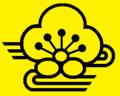 Yellow coat of arms background in black Minabegawa Wakayama chapter.png