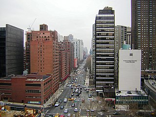 York Avenue and Sutton Place Avenue in Manhattan, New York