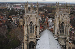 View of York (west) from York Minster