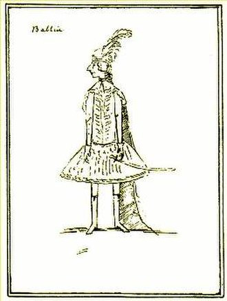 Lotario - A contemporary caricature of Annibale Pio Fabri, who created the role of Berengario