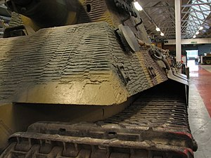 Zimmerit - Close view of Zimmerit on the corner of a Tiger II
