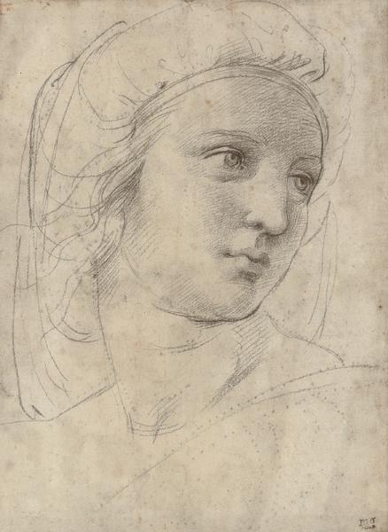 """File:""""Head of a muse"""" by Raffaello Sanzio.png"""