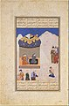 """Laila Visiting Majnun in the Desert"", Folio from a Khamsa (Quintet) of Amir Khusrau Dihlavi MET DT4786.jpg"