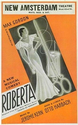 "Roberta - Image: ""Roberta"" 1933 Broadway poster"