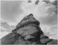 """Rock and Cloud, Kings River Canyon (Proposed as a national park),"" California, 1936., ca. 1936 - NARA - 519927.tif"