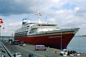 Ocean Dream (1972 ship) - Southern Cross in Copenhagen, Denmark 1995.