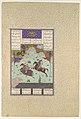 """The Fifth Joust of the Rooks- Ruhham Versus Barman"", Folio 342v from the Shahnama (Book of Kings) of Shah Tahmasp MET DP107202.jpg"
